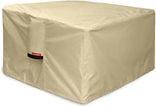 Porch Shield Fire Pit Cover - Waterproof 600D Heavy Duty Square Patio Fire Pit Table Cover Beige - 36 x 36 inch