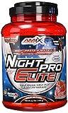 AMIX - Proteína Isolada Night Pro Elite - Gran Aporte de Aminoácidos Ramificados - Suplemento para Ganar Masa Muscular - Ideal para Batidos de Proteínas - Sabor Fresa - 1 KG