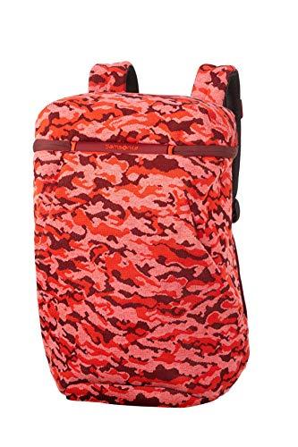 Samsonite Neoknit - 15.6 Pulgadas Mochila para Portátil, 45 cm, 17 L, Multicolor (Fluo Red Camo)