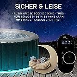Miweba MSpa aufblasbarer Whirlpool 2021 Starry C-ST061 Outdoor - inkl. LED Band - 138 Düsen - 204 x 70 cm - Tüv GS geprüft - 930 Liter - Pool aufblasbar (Comfort Starry 6 Personen) - 7