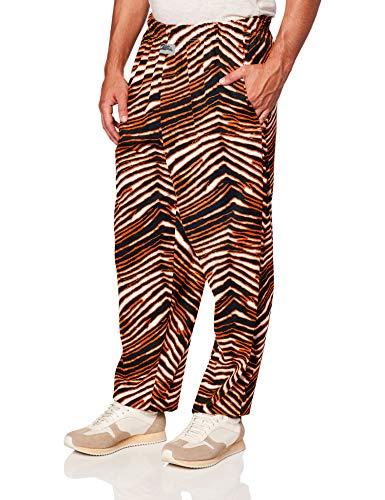 Zubaz Herren Zebra Print Leggings, schwarz/orange, Klein