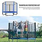 Rete di protezione per trampolino Rete di protezione per trampolino di ricambio, trampolino / rete di protezione per trampolini da giardino, accessori per trampolino, rete in PE, zip verticale, con as