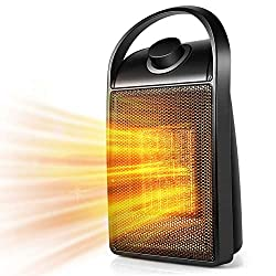 Space Heater, Indoor Personal Heater, Electric Ceramic Heater with Over Heat Protection, Tip Over Protection, 3 Heat Settings, Quick Heat up for Home Office
