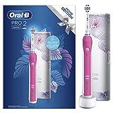 Oral-B Pro 2 – 2500 – Cepillo de dientes eléctrico recargable, 1 mango, 1 cepillo, 1 funda de viaje