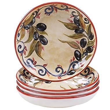 Certified International Umbria Soup/Pasta Bowl (Set of 4), 8.5 , Multicolor