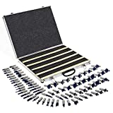 XtremepowerUS 80pcs 1/2' Shank Carbide Router Bits Tungsten Carbide Bit Set Woodworking Tool Carbon Steel 2 Blade 3 Blade Carrying Case
