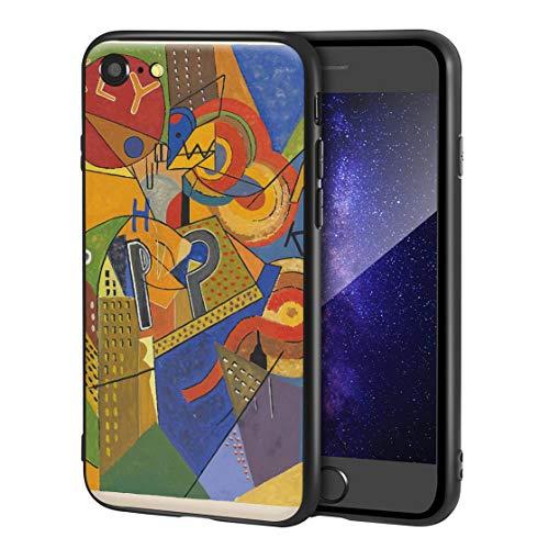 Berkin Arts Albert Gleizes Custodia per iPhone SE(2020)/iPhone 7/8/per Cellulare Arti/Stampa giclée a UV sulla Cover del Telefono(Broadway Bailarín Electric Gold en Un Cantante)