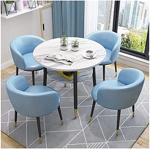 ZHANGXX Round Dining Table and Chair Hotel Shop Set Atlanta Mall Bedroom Tea New product!!