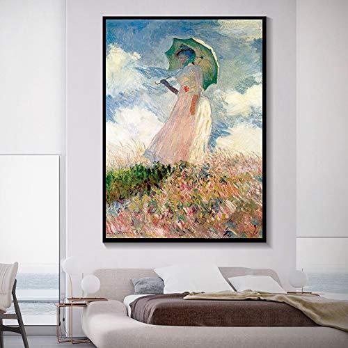Abstrakte Graffiti-Kunst Leinwand Malerei Kunstplakat und Druck an der Wand Frauen halten Regenschirm Bild Home Wand rahmenlose dekorative Malerei 60x90cm 60x90cm