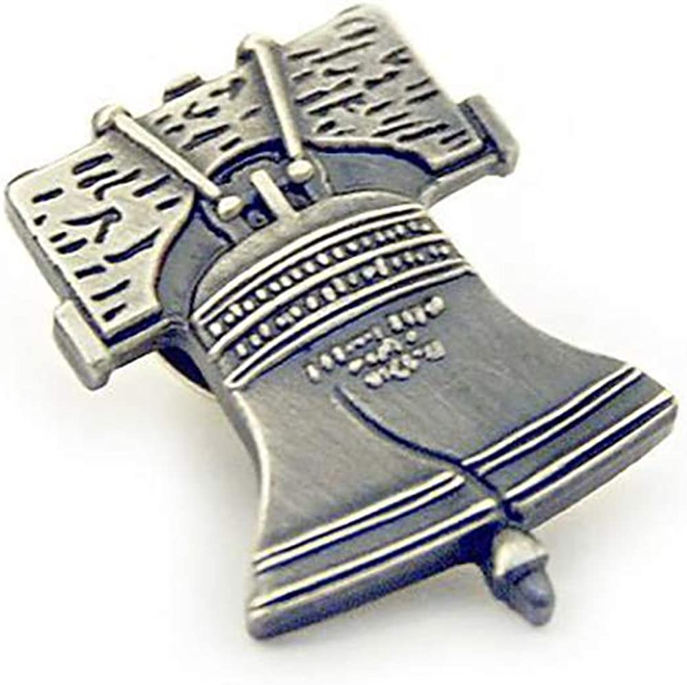 Liberty Bell Pewter Finished Lapel Pin