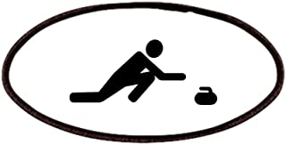 CafePress Curling Player Patch, 4x2in Printed Novelty Applique Patch