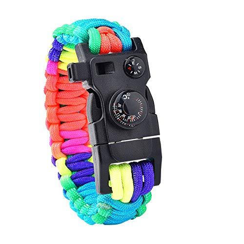 Survival Bracelet,Survival Bracelet Paracord Bracelet Rope Kit Emergency Whistle Equipment for Camping Hiking Outdoor
