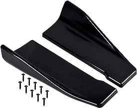 Rear Side Skirt Rear Bumper Protector Lip Car Diffuser Splitter Lower 34CM Glossy Black