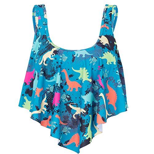 MARINAVIDA Swimsuit for Women Bathing Suits Top Ruffled Racerback Tankini