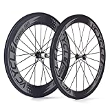 VCYCLE Nopea 700C Road Bike Carbon Wheels Clincher Front 60mm Rear 88mm Shimano or Sram 8/9/10/11 Speed