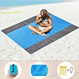 CapsA Sand Free Beach mat Large Oversized Waterproof Quick Drying Ripstop Nylon Compact Outdoor...