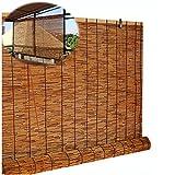 SHXF Persiana Enrollable bambú Natural Estores de bambú oscurecedor con Cuerda Cortina de Madera opacos Elegance,para Interiores Exterior Pérgola
