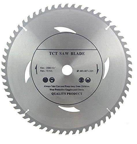 Hoja de sierra circular de alta calidad (sierra de corte) 400 mm x 32 mm x 60T para discos de corte de madera circulares