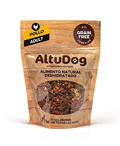 ALTUDOG Alimento Natural deshidratado para Perros Adultos Pollo SIN Cereales Adult 250g - Comida Natural para Perros (4x250g)