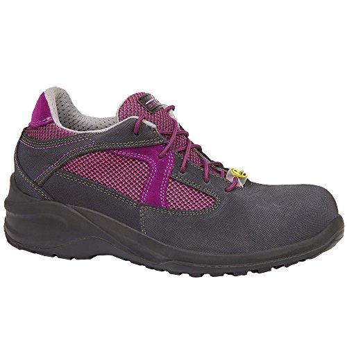 Giasco BL106K S3 Iris Sicherheitsschuhe, ESD Klasse 3, Schwarz/Grau/Pink, Größe 38