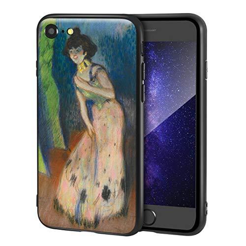 Berkin Arts Pablo Picasso Custodia per iPhone SE(2020)/iPhone 7/8/per Cellulare Arti/Stampa giclée a UV sulla Cover del Telefono(Una cantante)