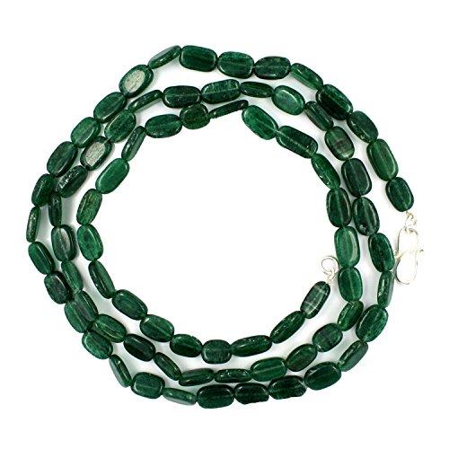 Be You grüne Farbe natürliche indische Aventurin einfache ovale einzelne Schatten Halskette