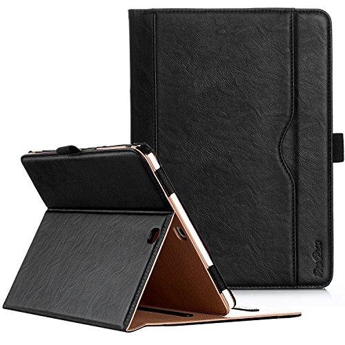 """ProCase Coque Samsung Tab S2 9.7""""(T810 T813 T815), Étui Cuir PU Housse Case de Protection, avec Multiples Angles, Sommeil/Réveil Automatique -Noir"""