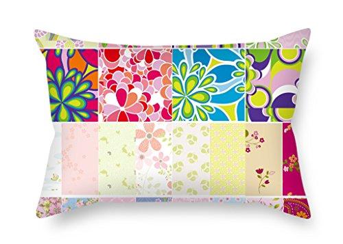 Elegancebeauty Bloc de couleur de Noël Taie d'oreiller 50,8 x 76,2 cm/50 par 75 cm pour maison Salon salle de jeux d'extérieur de banc avec deux côtés