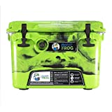 Frosted Frog Original Green and Black Camo 20 Quart Ice Chest Heavy Duty High Performance Roto-Molded Commercial Grade Insulated Cooler