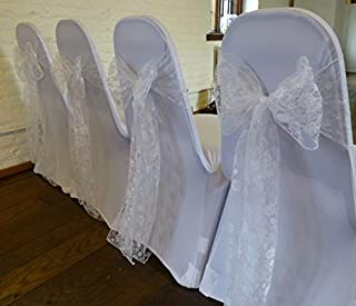 pack of 275 Wedding Chair Lace Bow Sash Wedding chair sash sashes Venue Decoration Party Supplies