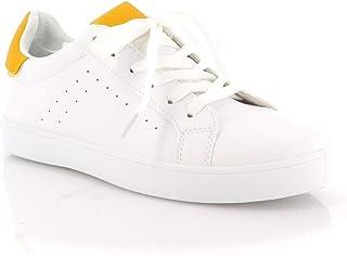 de0725331785d Amazon.fr   basket blanche femme - Jaune   Baskets mode   Chaussures ...