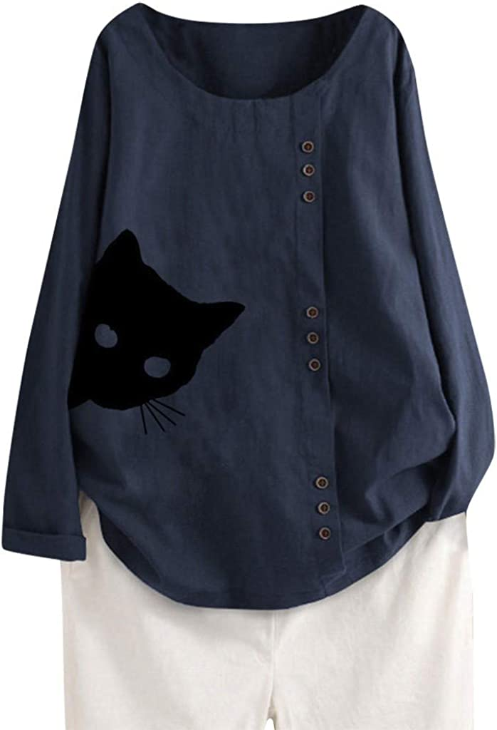 Womens Tops Plus Size F_Gotal Women's Same day shipping Fall Long L Ranking TOP1 Sleeve Cotton