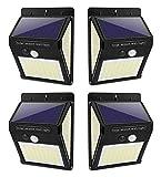Luz Solar Exterior con Sensor de Movimiento, Luces 144 LED Solares Exteriore, 3...