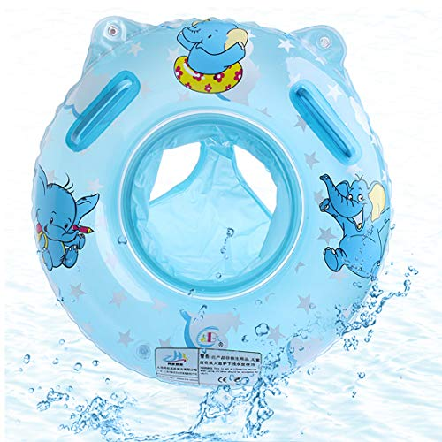 O-Kinee Baby Schwimmring, Blau Elefanten Schwimmring Baby Schwimmhilfe mit Schwimmsitz PVC für Kleinkind Schwimmhilfe Spielzeug 6 Monate bis 36 Monate