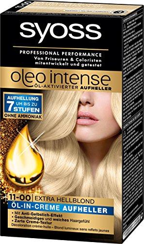 Syoss Oleo Intense Öl-Aktivierter Aufheller 11-00 Extra Hellblond Stufe 3, 3er Pack (3 x 125 ml)