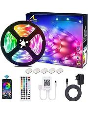 ALED LIGHT LED Strip RGB 5M SMD 5050 150 LED's LED strips, LED tape, 12V voeding & 44 toetsen afstandsbediening, LED strepen licht tape strip tape verlichting [energieklasse A +]