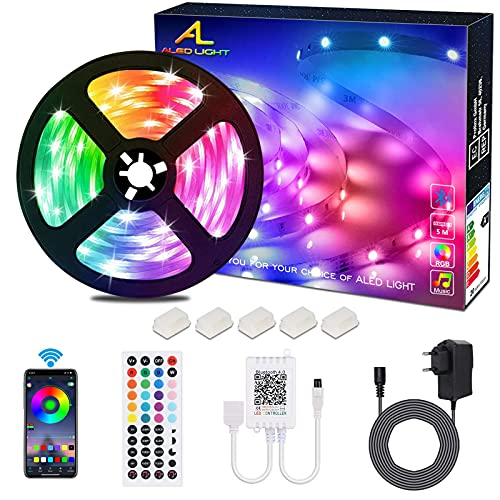 ALED LIGHT Tiras LED 5050 RGB 5m de...