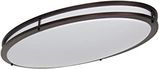 LB72135 LED Flush Mount Ceiling Lighting Oval, Oil Rubbed Bronze, 32-Inch, 35W, 200W Equivalent, 4000K Cool White, 2800 Lumens, ETL & DLC Listed, ENERGY STAR, Dimmable