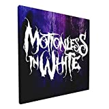ELISE GILES Motionless in White Painting Wall Art Canvas Pictures Artwork Wall Art for Bedroom Living Room Bathroom Decoration Framed Ready to Hang 12x12 Inch