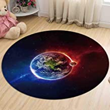 Carpet Bedroom Bedside Flannel Round Rugs Living Room Study Non-Slip Coffee Table Computer Chair Pad,3,120cm