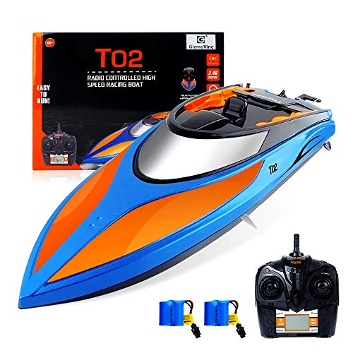 GizmoVine RC Boat High Speed (20MPH+) Remote Control Boats for Pools and Lakes with Extra Battery for Kids and Adults