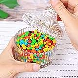 ComSaf Bonboniere mit Deckel Ф10cm 2er-Set, Zuckerdose aus Glas Klein, Lebensmittelechter Glasbehälter für Snacks - 8