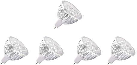 Ledlampen, MR16, GU5.3, 12 V, 4 W, fitting GU 5.3, komt overeen met halogeenlamp 30 W, 300 lm, 60 graden, koudwit 6000 K, ...