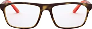 A X Armani Exchange Men's AX3073F Asian Fit Rectangular Prescription Eyewear Frames