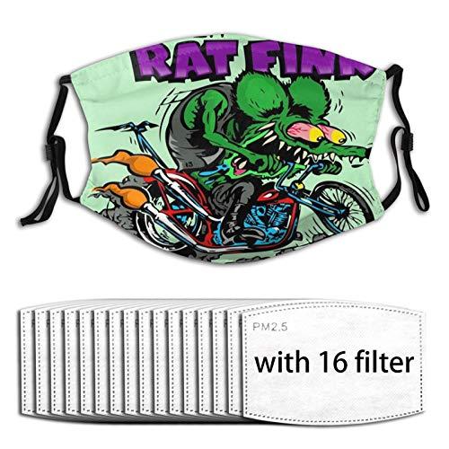 Euochengqus Rat Fink Anti-Staub Nebelmasken K?nnen Den Schutz Reinigen Und Wiederverwenden with Filter with 16 Filter