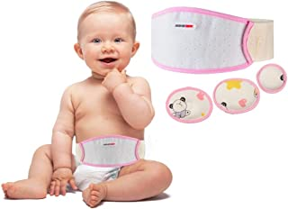 Umbilical Hernia Belt Baby Belly Button Band Infant Newborn Belly Band Wrap Baby Abdominal Binder Umbilical Truss Cord Adj...