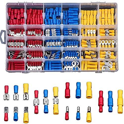 Connettore Elettrico del Cavo Isolato con Il corredo rotolato della Piegatura del Cavo dei terminali di Pin Red+Yellow+Blue