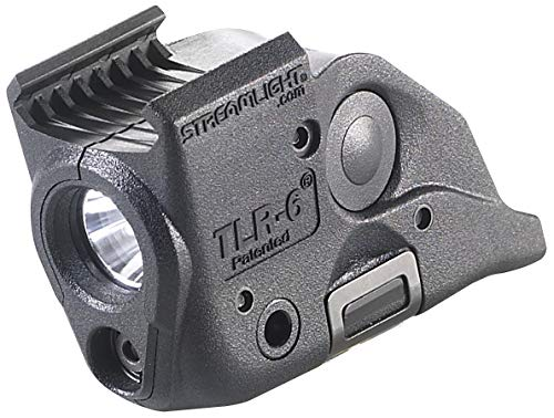 Streamlight 69293 TLR6 Tactical Pistol Mount Flashlight 100 Lumen with Integrated Red Aiming Laser Designed Exclusively and Solely for MampP Railed Hand Guns Black