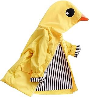 Toddler Duck Raincoat Baby Cute Cartoon Jacket Hooded Zipper Coat Waterproof Outwear Windbreaker