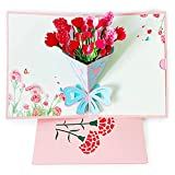 Best Valentine's Day Cards - 3D Pop Up Greeting Card, Flower Bouquet Anniversary Review